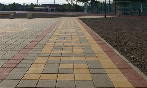 тротуарная плитка квадрат, цветная тротуарная плитка 250х250