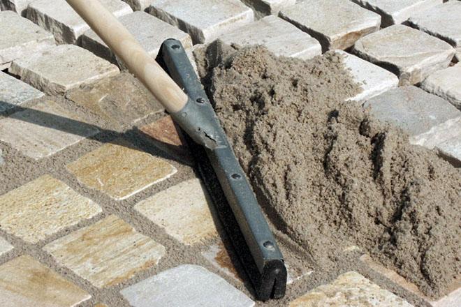 модифицированный песок, затирка швов брусчатки